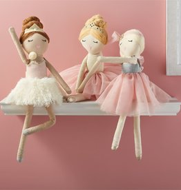 mud pie Brunette Ballerina Doll