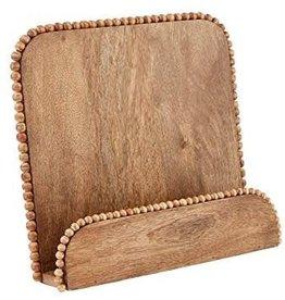 Mudpie Beaded Wood Cookbook Holder