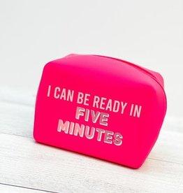 Mudpie Square Silicone Pouch Pink