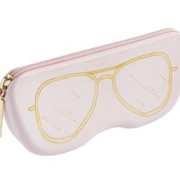 Mudpie Silicone Sunglasses Pouch Blush