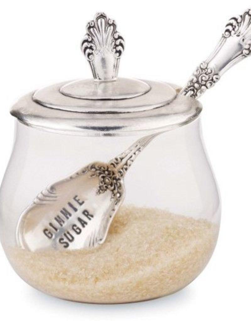 Glass Sugar Bowl Set
