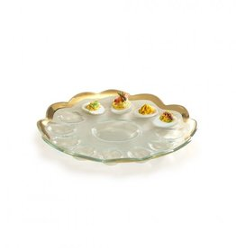 Annie Glass Annie Glass Deviled Egg Platter Gold
