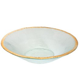 "Annie Glass Annie Glass Edgey 13 1/2"" Round Bowl"