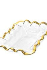 Annie Glass Annie Glass Ruffle Bread Basket Gold