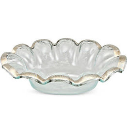 Annie Glass Annie Glass Platinum Ruffled Dip Bowl