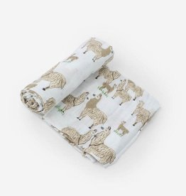 Little Unicorn Cotton Muslin Swaddle- Llama
