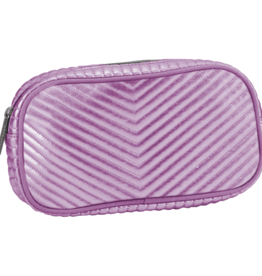 I Scream Pink Chevron Small Cosmetic Bag