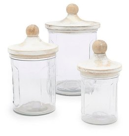 Mudpie Glass Canister Set - 3 pc