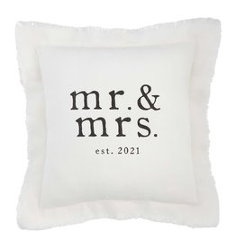 Mudpie Square Mr & Mrs 2021 Pillow