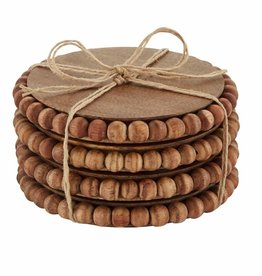 Mudpie Wood Beaded Coasters