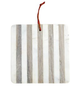 Mudpie Grey Marble Striped Board