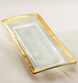 Annie Glass Annie Glass Roman Gold Appetizer Tray