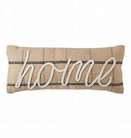 Mudpie Jute Home Pillow