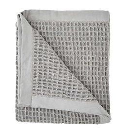 Mudpie Gray Waffle Weave Blanket