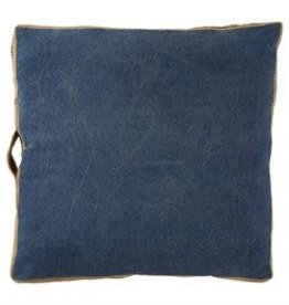 Mudpie Navy Web Handle Pillow
