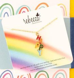 Rebecca Happy necklace