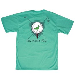Properly Tied Youth Tee Time SS Soft Green
