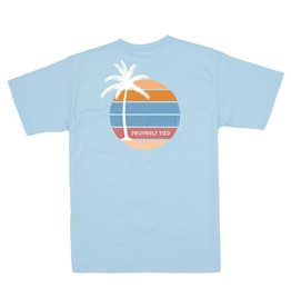 Properly Tied Youth PT Sunset Beach SS Powder Blue