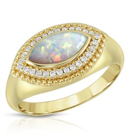 Joy Dravecky Vieux Ring Opal