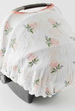 Little Unicorn - Cotton Muslin Car Seat Canopy - Watercolor Rose