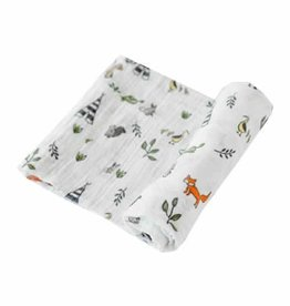 Little Unicorn Cotton Swaddle Single Forest Friends