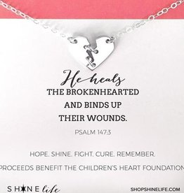 Mending Hearts Necklace - Silver