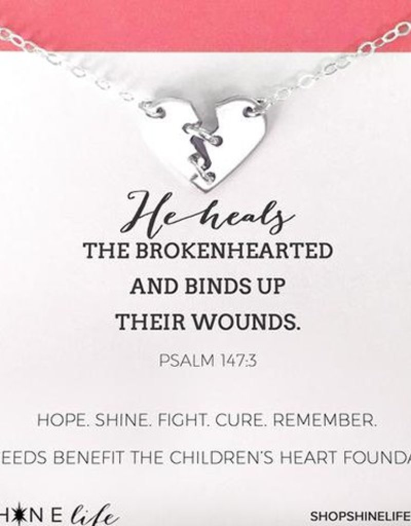 He Heals Necklace - Silver