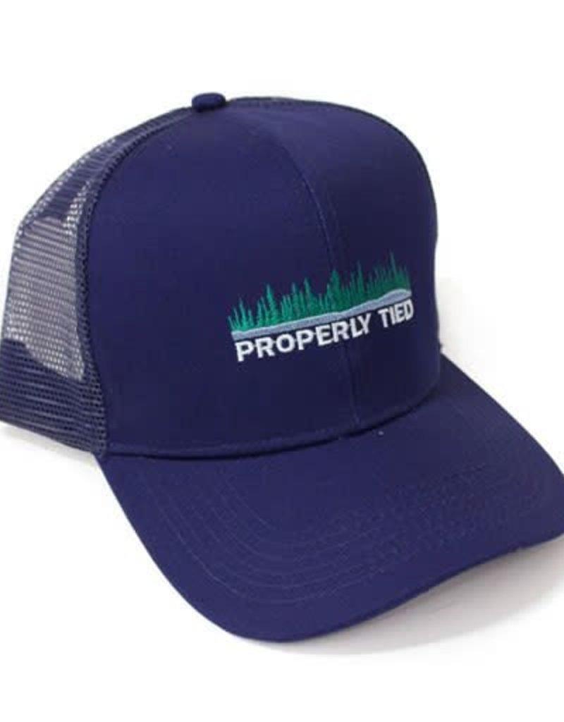 Properly Tied Trucker Hat - Lakeside - Navy