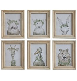 Nursey Animal Framed Wall Decor