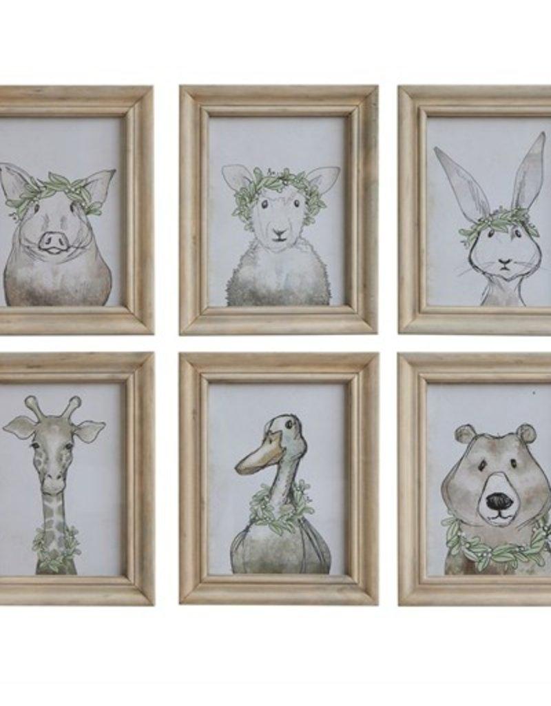 Nursey Animal Framed Wall Decor