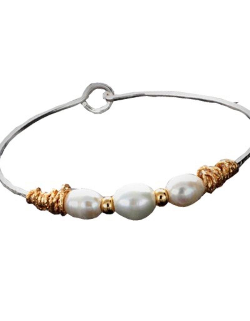Trinity Pearl Bracelet