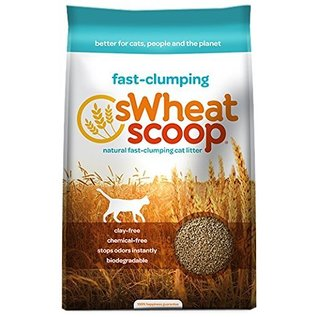 sWheat Scoop Natural Fast-Clumping Wheat Cat Litter, 12-lb Bag