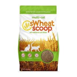 sWheat Scoop Multi-Cat Natural Wheat Cat Litter, 25-lb Bag