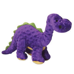 Quaker Pet Group Quaker Pet Group GoDog Bruto Dino Dog Toy Purple SMALL