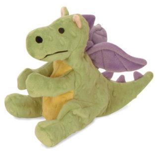 Quaker Pet Group GoDog Skinny Dragons Dog Toy, Small Green