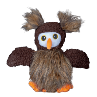 Spunky Pup Spunky Pup Furry Friends Owl with Ball Squeaker Dog Toy