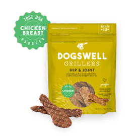 Dogswell Dogswell Hip & Joint Chicken Grain Free Grillers Dog Treat, 12-oz Bag