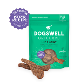 Dogswell Hip & Joint Duck Grain Free Grillers Dog Treat, 12-oz Bag
