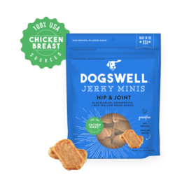 Dogswell Dogswell Hip & Joint Mini Chicken Grain Free Jerky Dog Treat, 4-oz Bag