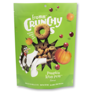 Fromm Pet Foods Fromm Pumpkin Kran Pow Crunchy O's 6oz Dog Treats