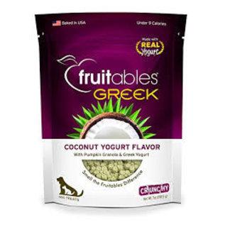 Fruitables Fruitables Coconut & Greek Yogurt Dog Treats 7oz