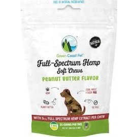 Green Coast Pet Pawnut Butter Dog Treat, 1-lb Jar