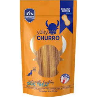 Himalayan Himalayan Dog Chew Yaky Churro Peanut Butter Dog Treat, 4-oz Bag