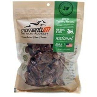 Momentum Carnivore Nutrition Momentum Carnivore Nutrition Turkey Hearts Freeze Dried Treat, 4-oz Bag