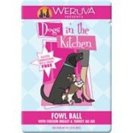 Weruva Dogs in the Kitchen Fowl Ball Grain-Free Dog Food, 2.8-oz Pouch