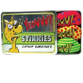 Yeowww! Catnip Yeowww! Tin Of Stinkies Catnip Sardine Cat Toys, 3 Pack