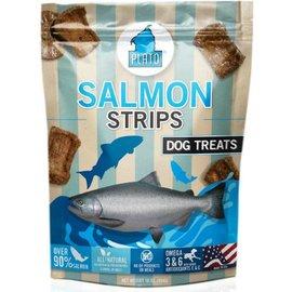 Plato Pet Treats Plato Salmon Strip Dog Treats, 16-oz Bag