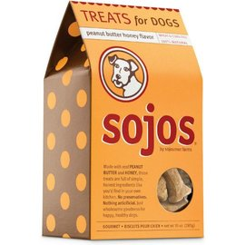 Sojos Sojos Natural Dog Peanut Butter & Honey Dog Treats, 10-oz Box