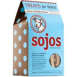 Sojos Sojos Natural Dog Bacon & Cheddar Dog Treats, 10-oz Box