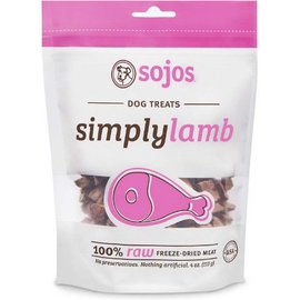 Sojos Sojos Simply Lamb Freeze-Dried Dog Treats, 4-oz Bag